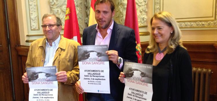 Rueda de prensa en el Ayuntamiento de Valladolid