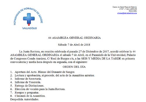 44 Asamblea General Ordinaria