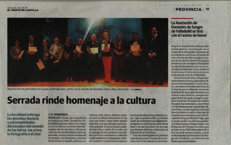 Premios Racimo de Honor, Serrada 25 de mayo