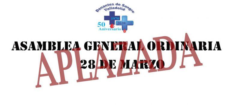 APLAZAMIENTO ASAMBLEA GENERAL 28 DE MARZO